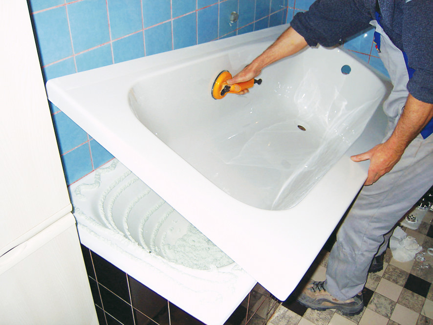 Acrylic bath liner: install by yourself