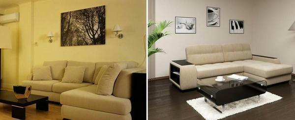 If your living room is small, then the best option for her will be a corner sofa that will save space