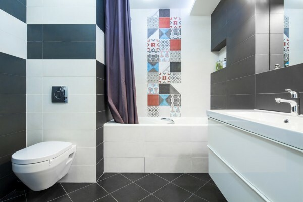 An example of a modern bathroom design 4 square meters