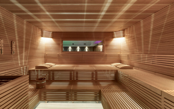 Hemlock paneling is used in infrared saunas