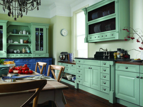 kitchen color selected on the basis of a summer palette