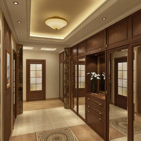 A large corridor in an apartment or house must necessarily be cozy and functional