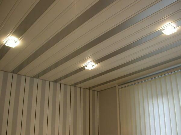 For the manufacture of lath ceilings, a metal profile of aluminum or stainless steel