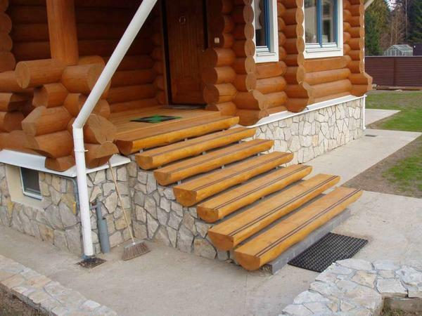 Even if the porch is made of other materials, the steps are often made of wood