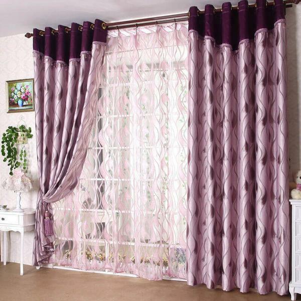 Curtains with eyelets need to be washed very carefully