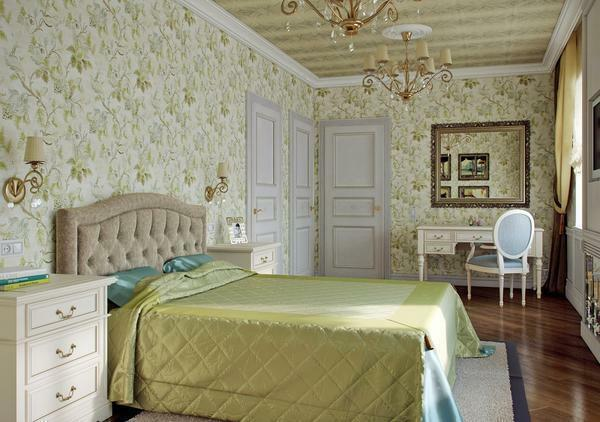 Pastel colors are appropriate to use in the classic bedroom, as they positively affect a person
