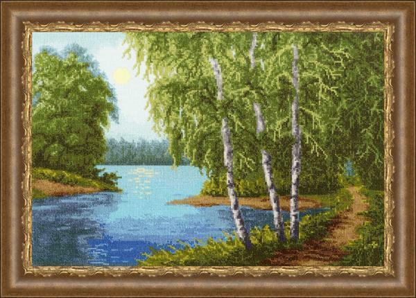 Cross stitch pattern nature: landscapes download, free big pictures, for children, Needle, Igolochka