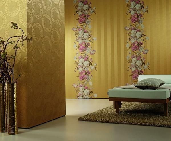 Wallpapers from Germany give the room a luxurious look and look very richly