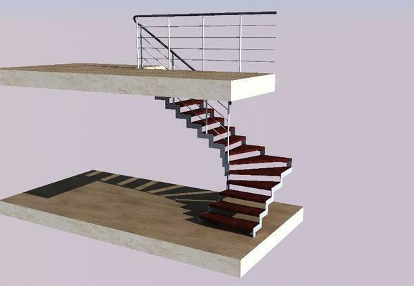 Program for designing stairs in a private house: an online designer for drawing and calculation, 3d construction