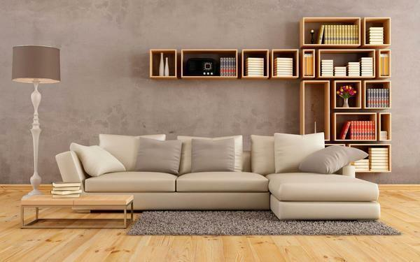 To make your living room look modern and stylish, the sofa must match the interior design