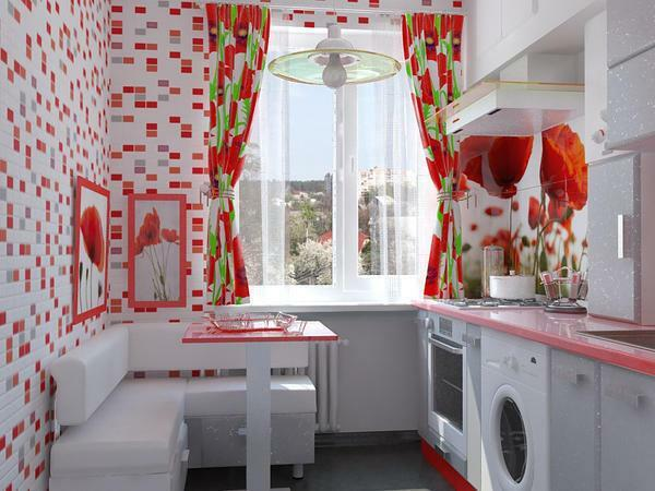 Red color is very risky, but at the same time an elegant way to paint your kitchen