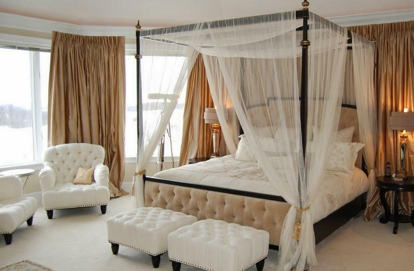 Bed with canopy: photo, with own hands an adult canopy, how to hang and make a cornice, how to hang a curtain