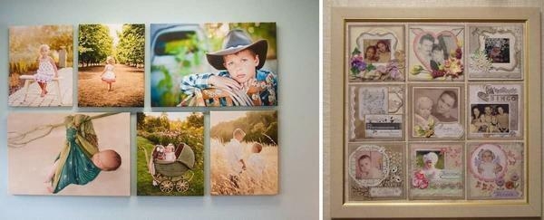 Picture from photos: on the wall of the photo frame with your own hands, how and from what to make clips, photo in a white frame