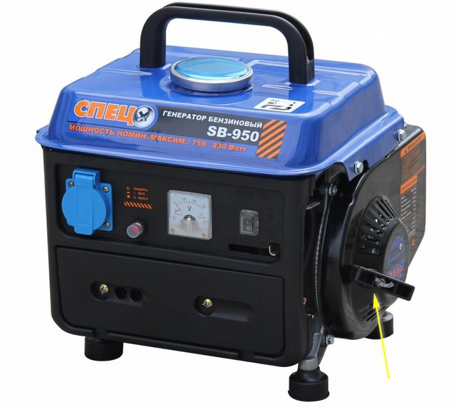 Manual starter for compact portable generators, as a rule, is quite enough