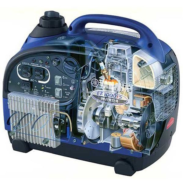 Extremely compact configuration of inverter gasoline generator