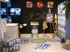 Design of mats in the bathroom for children
