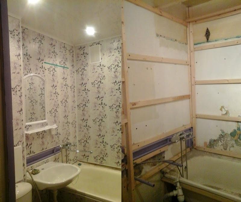 Панели пвх стеновые в ванной своими руками 679