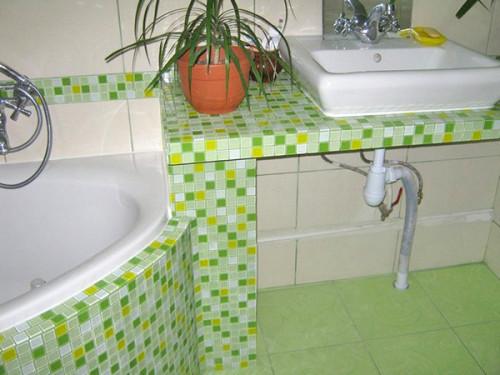 Раковины из мозаики в ванной своими руками 86